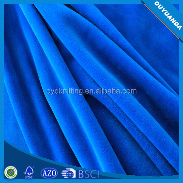 PFD P/D One Side Brush Super Soft Polyester Spandex Velboa Fabric for Garment/Lining/Home Textile