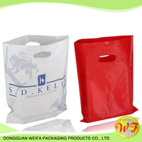 Recycle Bespoke Die Cut Handle Heat Sealed Non Woven Bag Ultrasonic Shopping Bag