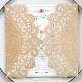 Glitter Doily Laser Cut Invitations