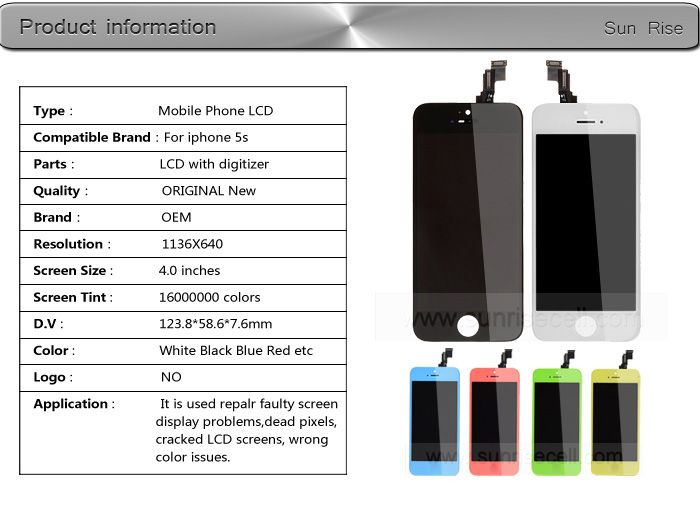 100% Warranty Wholesale Factory Mobile Phone Screen For iPhone 5s,For iPhone 5s Lcd,For iPhone 5s Screen