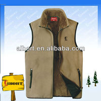 SVZ-9-1 mens polar fleece with fur lining vest/waistcoats