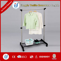 mobile single-pole hanging laundry rack