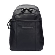 Custom Color Free sample Small PU Black Short Handle Back Pack Backpack Bag with Straps