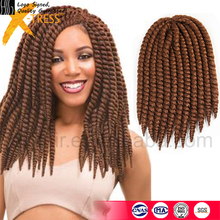 FREE SHIPPING IN STOCK 14 &12 inch 80g/pack Havana Mambo Crochet Twist Braids Hair Extension Synthetic Crochet Braid