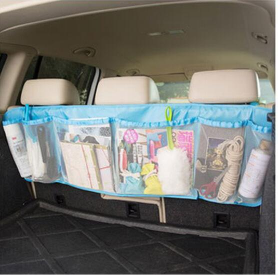 Wholesale muti pockets hanging mesh car organizer bag