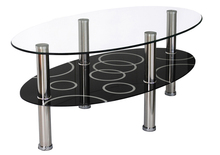 Tulip party led glass luxury low coffee dining table in good taste