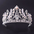 Wholesale Silver Pearl Beauty Women Crown Wedding Tiara