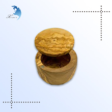 2014 Customized luxury Made-in-China OEM round shape Wooden Box for spices