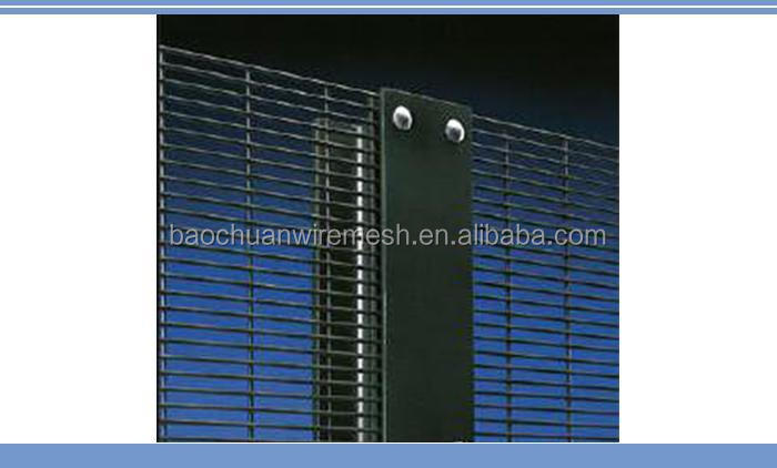 High quality 76.2mm*12.7mm hot dip galvanized High Security 358 Fence, Outdoor High Security 358 Fence, 358 fence panel