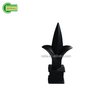 Metal black spear point,Press fit aluminium picket spearhead