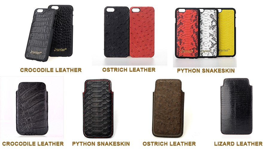 Wholesale Leather Cell Phone Case Custom, Genuine Ostrich Leather Phone Case For Phone 8