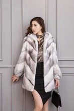 Factory direct sale ms elegant fashion imports cross mink fur coat