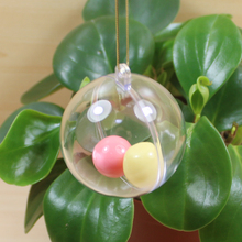 2016 new design fillable High Quality Hot Selling openable transparent plastic balls
