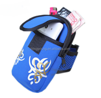 Custom promotional running neoprene wrist cell phone cover