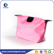 Recycled polyester material cute cosmetic bag with zipper