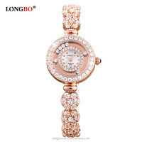 Longbo brand stainless steel back girl latest hand stocks watch for girlfriend gift