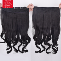 Synthetic curly hair silk top closure piece
