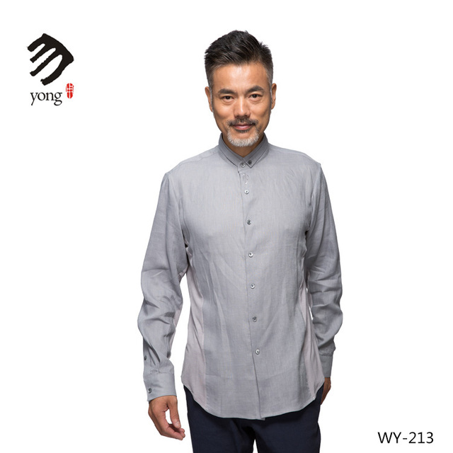 Business Casual New Design Medium Men Long Sleeve Linen Shirt