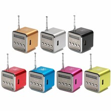 Professional Multi Colors Mini Smallest Speaker MP3/MP4 Music Player Portable Speaker with Radio FM Support SD TF card