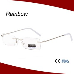 2015 brand designer high quality rimless eyewear frames for women