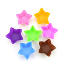 Silicone Star Shaped Cupcake Holder/Mold