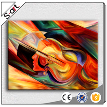 Music instrument abstract guitar canvas oil painting for living room home hotel cafe modern Wall Decoration
