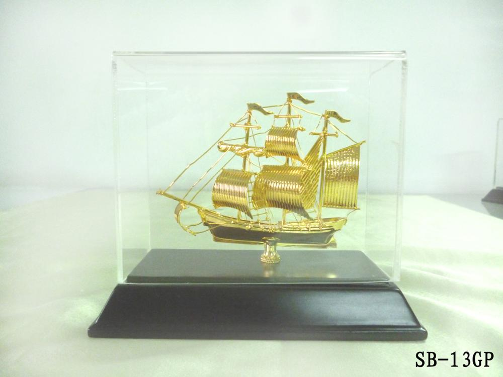 24k gold ship model from vietnam for company business