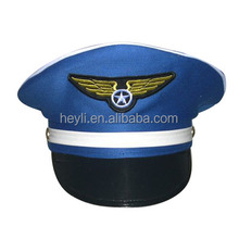 Blue Airline Factroy Pilot Hat for party