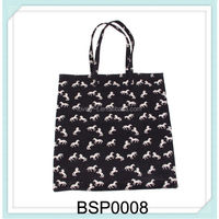 expensive canvas foldable reusable shopping bag with horse pattern