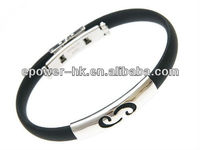 Horoscope Zodiac Signs Cancer Bracelet. Stainless Steel Cancer on Super Black Silicon Band Jelly Bracelet / Lucky Fortune Zodiac