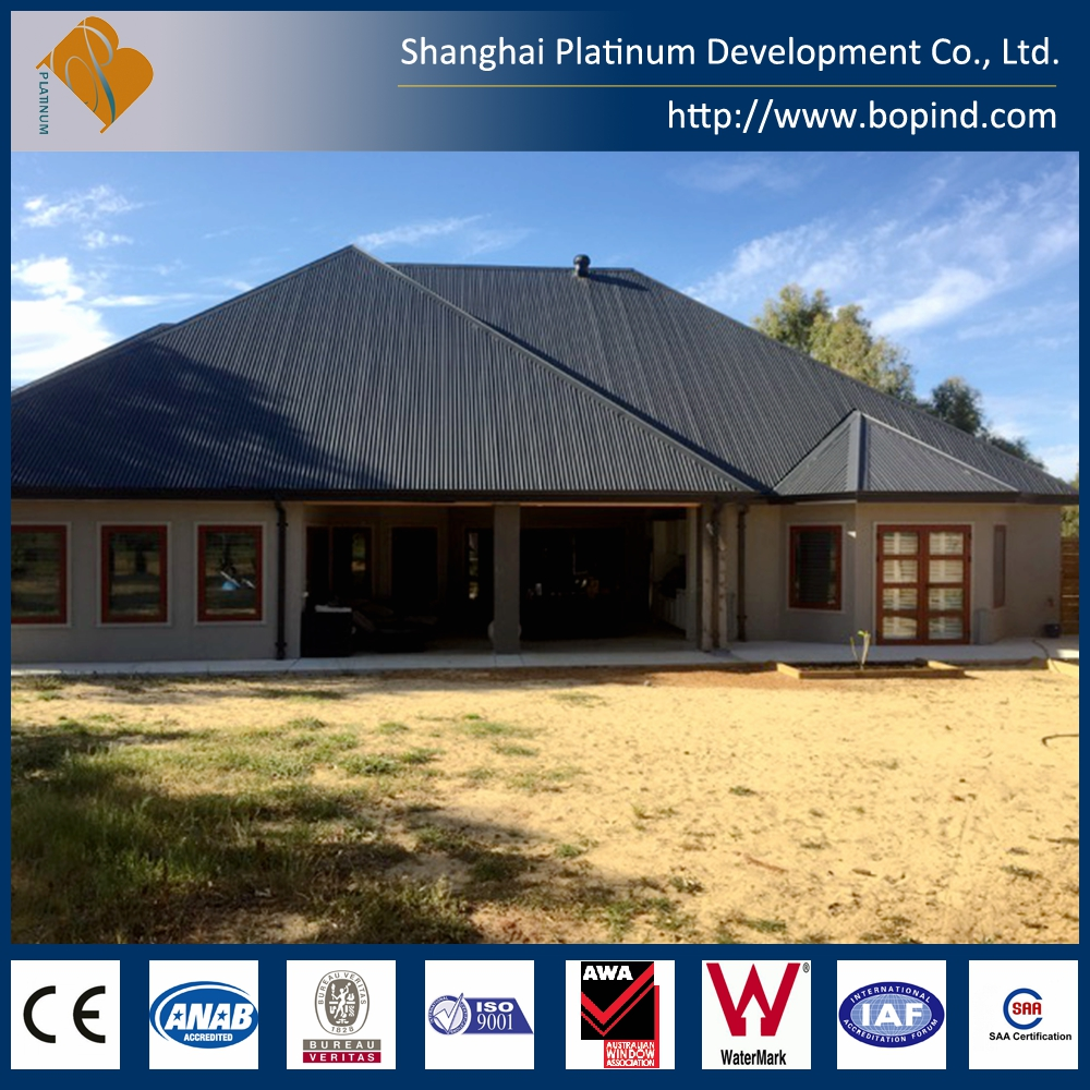 Modern Modular Sloped Roof Prefab Light Gauge Steel Australian Standard Prefab Home Market
