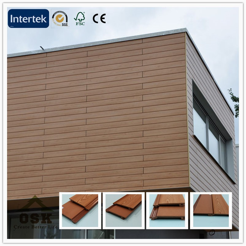 156mm*21mm embossed wpc exterior wall cladding board wall panel made in china haining