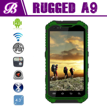 New IP68 Camera 8.0MP Battery 3000mAh Smart Dual Sim Land Rover A9 MTK6589 Quad Core Rugged Waterproof Cell Phone