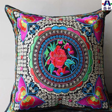 Chinese Style Of Ethnic Minorities 100% Polyester High End Embroidery Pillow/ Cushion