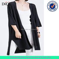 2016Fashion Half Sleeve Cardigan Short Front Long Back Woman Sweater