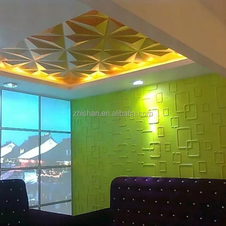 Insulated lightweight waterproof decorative wall interior 3d wall panel