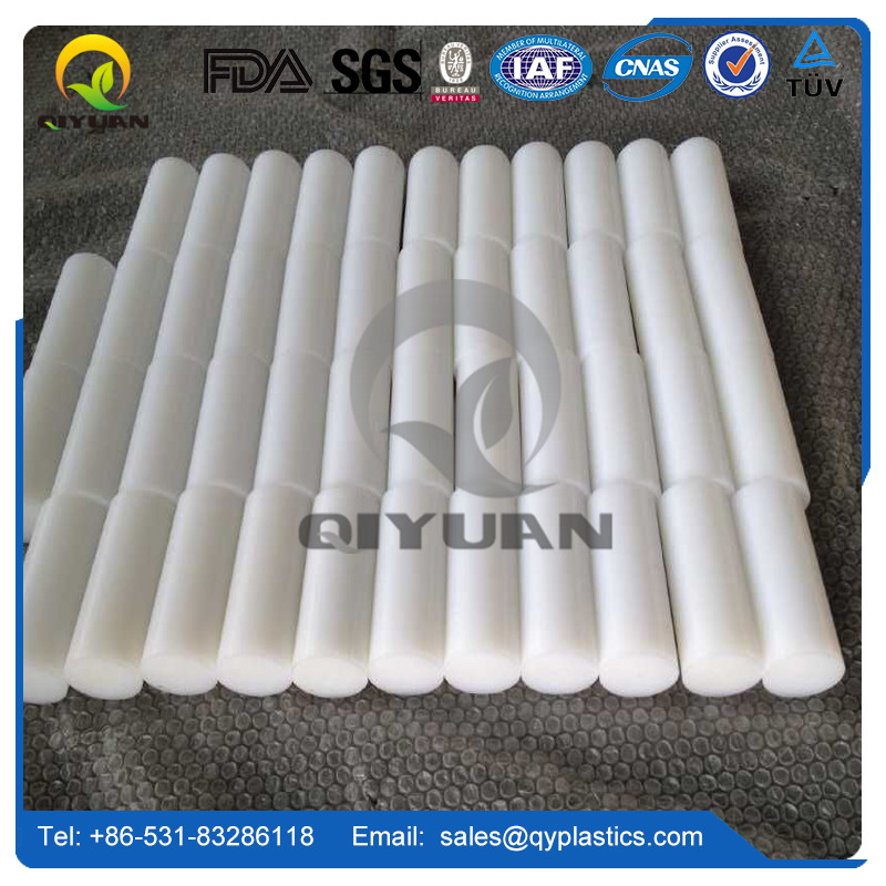 impact resistance plastic machined parts, customized abrasion resistant uhmwpe rod/ polyethylene plastic rod