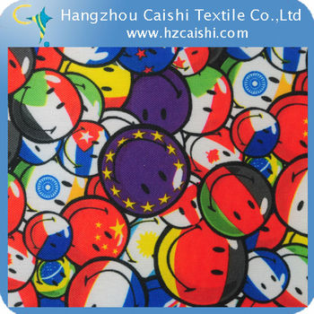 600D*300D POLYESTER PRINTED FABRIC WITH PVC COATING FOR BAGS