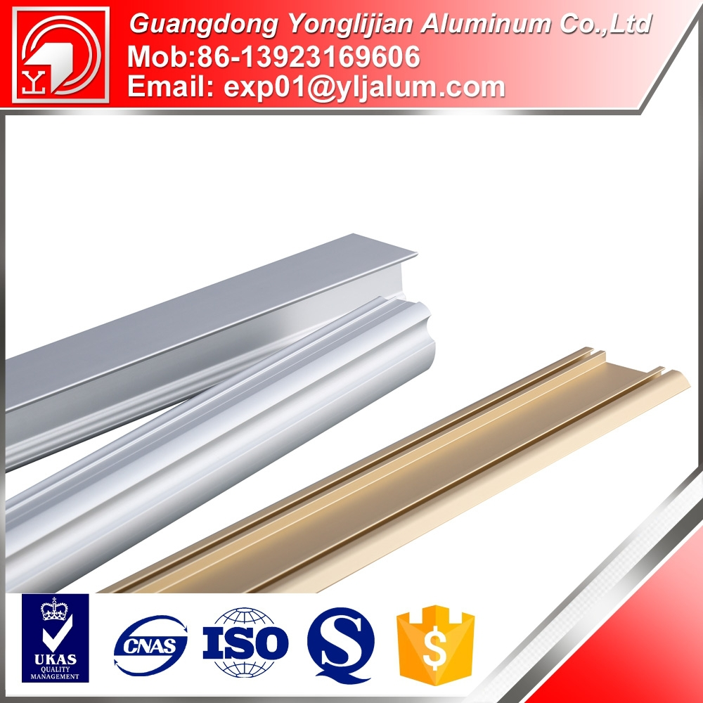 Edge aluminum handle profile and frame with elegant shape