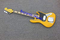 free shipping 4 string Electric Bass yellow bass guitar