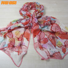 Beautiful butterfly printed georgette islamic long scarf
