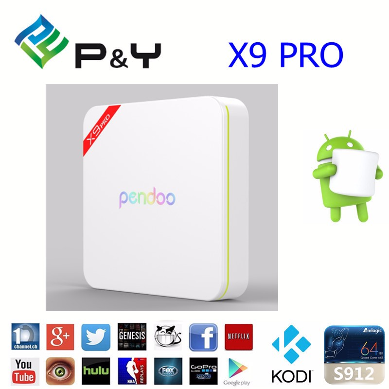 x9 pro Amlogic S912 Octa Core tv box Android 6.0 with Dual Band Wifi and Kodi Fully Loaded Media Player