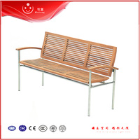 Hot Patio Wood And Metal Park Bench Chair Wooden Frame Outdoor Furniture Outdoor Bench