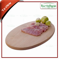 CE / EU,FDA,SGS Certification and Chopping Blocks Type ellipse shaped Cutting board made of bamboo
