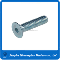 China factory supply din 7991 hexagon socket countersunk head cap screw