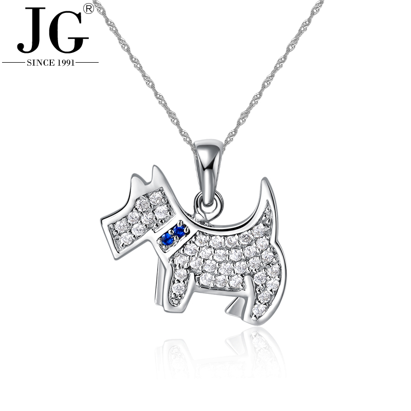 Free Shipping Online Wholesale 925 sterling silver AAA cubic zirconia dog design pendant necklace jewelry PA4492