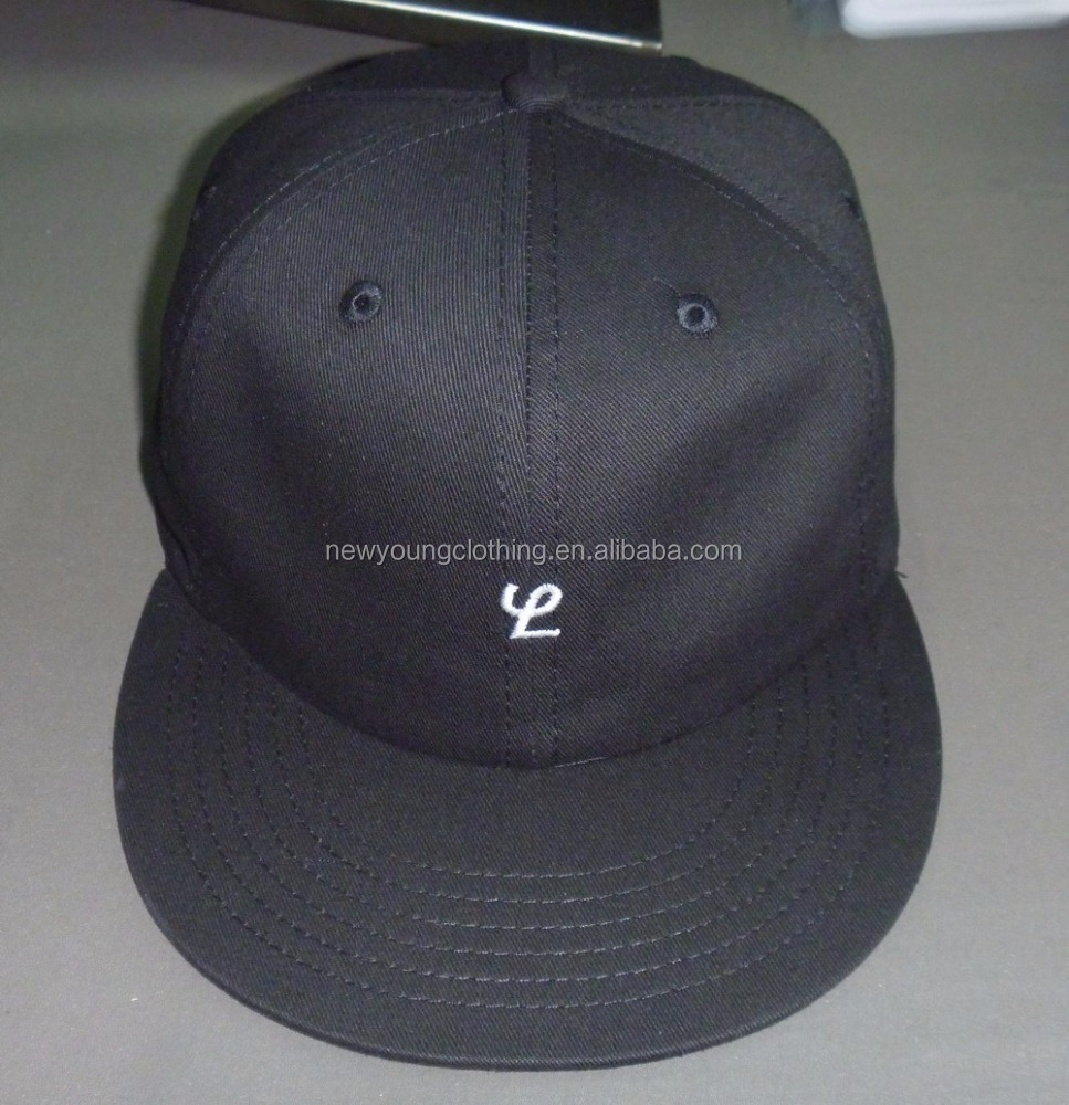 Custom high quality cotton 6 panel unstruction baseball cap genuine leather strap