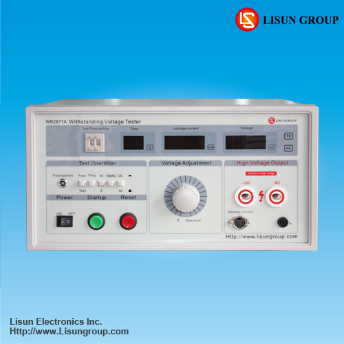 Lisun WB2671A withstand voltage test system to do high voltage withstand measurement with high stability