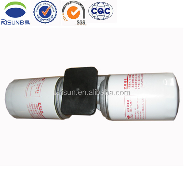 Oil fuel filter JX1013B 6M320-20 yuchai engine motor oil filters for truck spin oil filter