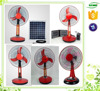 Factory warranty battery charger table fan 16'' solar dc table fan battery powered table fan